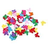 100pcs Tissu en Formes Divers Pour Décoration de Couture Bricolage d'Articles Artisanals - Papillon