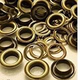 100X 10mm bronze Oeillets avec rondelles en métal pour bannières et travaux manuels-Œillets pour ajouter des rubans, Lacets en cuir ...