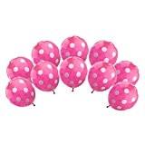 10pcs D'hélium Ballon à Pois Décoration pour Maison Mariage Anniversaire - Rose, F