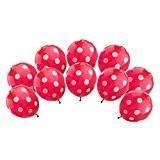 10pcs D'hélium Ballon à Pois Décoration pour Maison Mariage Anniversaire - Rouge, F