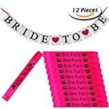 12 pcs parties de poupée châssis et mariée à Bunting bannière pour décorations de mariage Ladies Night Out par Paxcoo