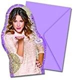 12 pièces lot de cartes d'invitation VIOLETTA - édition GOLD pour Anniversaire d'enfant ou soirée à thème 6 Invitations et ...