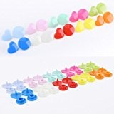 150pcs forme Coeur KAM Bouton pression 12mm 10 couleurs + lot de pince