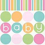 16 SERVIETTES BABY SHOWER