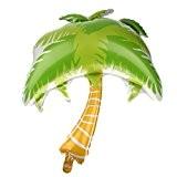 1pc Palmier Feuilles Ballon en Aluminium pour Soirée Fête de Thème Hawaiian Plage - Or