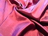 2tons Shot taffetas imitation soie tissu rideau robe, decor, en couleur métallique rose/violet foncé