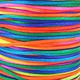 20m arc-en-ciel Rattail cordon 2mm. Shamballa/Kumihimo/macramé/nœuds/Bracelet/cordon/perles cordon/cordon tresse/Fabrication de bijoux