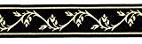 20m Moyen-âge galon webband 35mm couleur?: noir/or de 1a de mercerie 35094de swgo