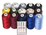 20pièces de couture?: 15rouleaux-Set + 5aiguilles pour machine à coudre universel