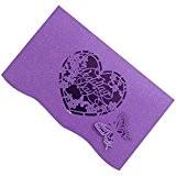 20pcs Cartes D'invitation Elégante Motif Coeur Papillon Découpé Carte Faire-part de Mariage-120x180cm - Violet