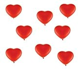 25ballons en forme de cœur Rouge-env. Ø 30cm-Lot de 25-Couleur Rouge-Cœur Ballons Hélium-Top Qualité-twist4®