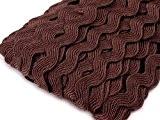 25m ourlet croquet, 5/9mm, zick zack galon, ruban, application, Viscose, plusieurs couleurs marron