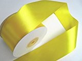 25 m satin ruban 50 mm de large: Jaune-Citron
