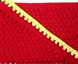25 mètres Galon Ruban passepoil 100%coton H2CM rouge ou jaune lot 202