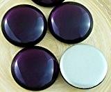 2pcs Cristal Violet Rond Bombé Verre tchèque Cabochon 20mm