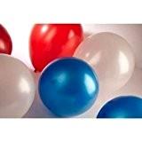 """30 Rouge/blanc et bleu 12 """"métallique hélium Latex ballons - 4 juillet jour de l'indépendance des Parties d'Amérique célébrations"""