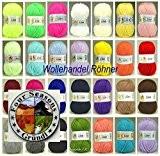 30x 50g Lisa Premium Gründl Kit fil de tricot laine tricoter XXL + 1x Bonnet Label et 1x Crochet