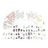 34 pièce Crystal Card Kit (Rend 10 Cristal Cartes), fabrication de cartes scrapbooking DIY cristaux numérotés