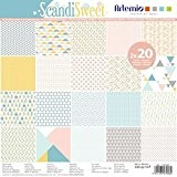 40 Feuilles Papiers Scrapbooking 30.5 x 30.5 - Assortiment Papiers Scandinave Style - Scandisweet