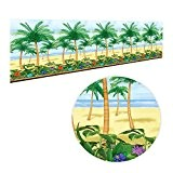 40m géant hawaïenne Scène Setters Chambre Roll Soirées Palmier Tropical Summer Paradise POUR Décoration Murale