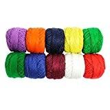 475 mètres de fil en coton de couleur pour crochet artisanal par Curtzy TM.