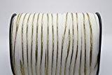 4M Cordon de passepoil Biais Blanc et Doré Bride avec ruban recouvert d'insertion/7mm diamètre-Coton bande de ruban adhésif pour réparation ...