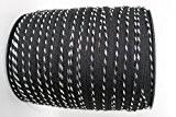 4M Noir et Argent Cordon de passepoil Gap Biais Bride avec ruban recouvert d'insertion/7mm diamètre-Coton bande de ruban adhésif pour ...