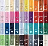 5 m Fermeture éclair au mètre, 30 mm large, comprenant 10 Non Bloquer-Curseur, Choisir 40 Couleurs / Couleur: 90