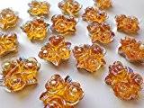 50cabochons 20mm fleur rose forme coudre sur strass cristaux en résine Doré Big Gem Pierre stass 2trous