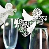 50Carte Ange Verre à vin Escort Tasse Carte Table Décorations Table Nom Numéro de carte Place pour mariage fiançailles Décoration ...