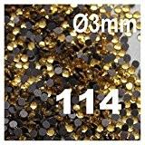 500 Strass thermocollant Rhinestone Hotfix [Ø3mm s10] N° 114-GOLD