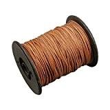 50m Cordon cuir rond Ø 2mm - Naturel - idéal pour collier et bracelet, 1 bobine de 50m de lacet