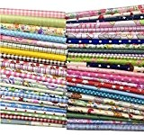50pcs 30cm x 30cm Tissu de coton Craft carrés patchwork Peluches DIY Couture Scrapbooking à pois Artcraft, Multicoloured