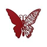 50pcs Carte de Verre Marque Place Carte Nom de Papillon Découpé pr Fête Mariage - Rouge