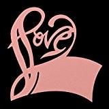 50pcs Coeur Amour Love Carte de Verre Marque Place Porte-Nom Décoration pour Table Café Mariage Fête - 4 Couleurs au ...