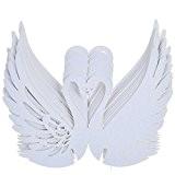 50pcs Cygne Carte de Verre Marque Place Decoration de Table Pour Mariage - Blanc