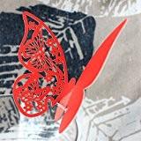 50pcs Marque Place Papillon Partie Carte Nacrée Coupé Verre Décoration De Mariage Cérémonie - Rouge
