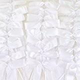50pcs Noeud papillon satin ruban mariage voiture décoration blanc