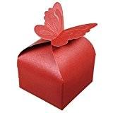 50pcs Papillon Décoration Boîte à Dragées Mariage Baptême Décoration Naissance Rose