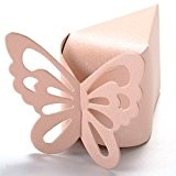 50x Boite a Dragée Papillon Décoration Mariage Bapteme Fête Naissance ROSE