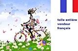 5D Broderie diamant toile entière, kit complet VENDEUR FRANÇAIS + boite de rangement et loupe LED (fée à bicyclette 30 ...