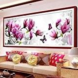 5D diamant broderie Papillons bricolage jeu Magnolia Round Diamond Peinture Kits Point de Croix
