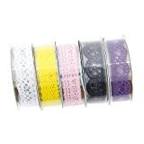 5pcs style ruban de dentelle / ruban adhésif collant garniture décorative Craft