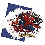 6 Cartes d'invitation avec enveloppes Spiderman - Taille Unique