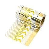6 rouleaux Washi Tape Masking tape - LATH.PIN Ruban Adhésif Papier Décoratif - Color C6, 15mm x 10M