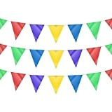 60m de triangle double face Multicolore Parti fanion Drapeau Guirlande Décoration