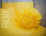 96 feuilles de papier de soie Jaune Pale, 50x75cm, 18 grs