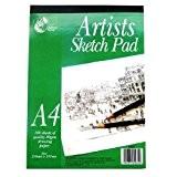A4 Artistes Dessin & Croquis bloc-note - 100 feuilles (297mm x 210mm)