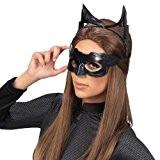 Accessoires de déguisement - Masque couvrant les yeux, lunettes Catwoman avec oreilles de chat - Latex noir