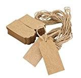 ACMEDE - 100pcs Étiquettes En Papier Kraft Personnalisées Pour Décoration Cadeau Anniversaire Noël Mariage Gift Prix Tags Avec Cordon Chanvre ...